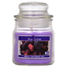Star Lytes Mulberry Scented Glass Jar Candle