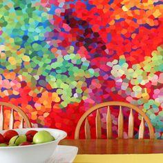 Massive DIY - Shower Curtain Art - [blog] www.landofzonkt.com.au