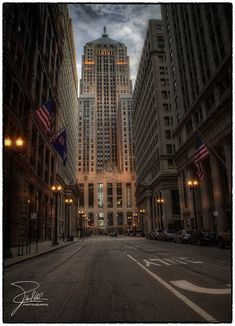 "Chicago Board of Trade by Frank Kehren, via Flickr Used in ""The Untouchables"" and later as Gotham City in ""The Dark Knight"" #chicago #theuntouchables #thedarkknight"