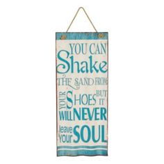 Shake the Sand Waved Metal Plaque | Kirklands