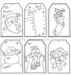 Free printable christmas tags - hand drawn__ these would be good to print out for the kids to color and use. Description from pinterest.com. I searched for this on bing.com/images