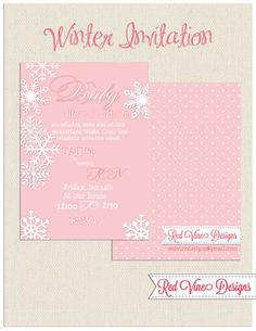 Baby it's cold outside Snowflake Invitation