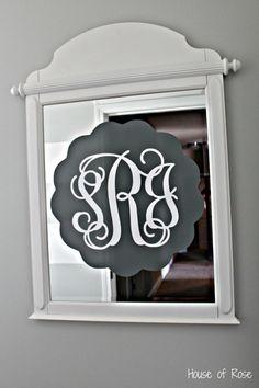 Nursery Ideas: Mirror with initials