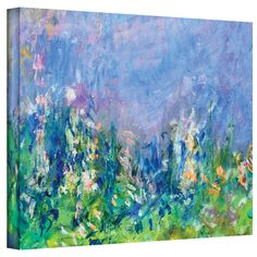 Claude Monet's Lavender Fields, Gallery Wrapped Canvas Artistic gloss canvas is used to vibrantly re-create the artist's original work.