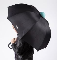 alessandro busana adds cup to umbrella to contain water drips