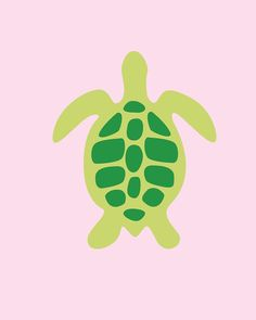 Turtle Silhouette Canvas Reproduction