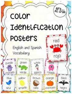 "Color Identification Posters (English and Spanish Words)  Included in this package are 11 color identification printable posters! Posters feature each color written in both English and Spanish and have a matching colored image (great for teaching English-speaking   Another product you may be interested in is my  <a href=""http://www.teacherspayteachers.com/Product/2D-Shapes-and-3D-Shapes-Forms-Poster-Set-Set-of-20-EnglishSpanish-1213841"">'2D Shapes and 3D Forms Poster Set'</a>!"