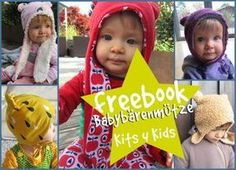 Freebook Babybärenmütze 3.0, Freebook Nähen Baby, Bärenmütze