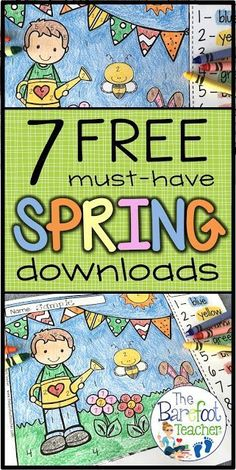I found 7 FREE spring themed downloads for you to use in your Kindergarten classroom. These activities will be a perfect addition to the other lessons, ideas, and crafts you have planned this season for your kids!