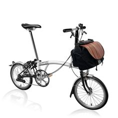 Bike Builder | Brompton Bicycle, sporty affordable singlespeed light weight in basic colours with the tough fire fighter bag