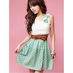Polka Dot Sweet Mini robe de la femme
