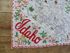 Road Trip vintage 1950s IDAHO state souvenir by varietyvtgclothing, $26.00