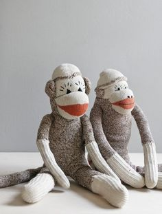 vintage sock monkey no 1 by ohalbatross on Etsy Sock Monkey Cupcakes, Football Socks, Boys Socks, Sock Toys, Quilt As You Go, Strip Quilts, Sock Animals, Monkey Business, Interesting Faces
