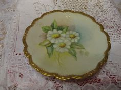 Plate with Gold Trim Floral by wasminenowyours on Etsy