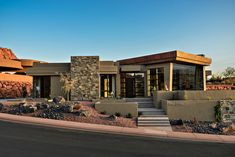 Contemporary Exterior Design in St. Outside House Decor, House Outside Design, House With Porch, Small House Design, Modern House Design, House Plans Mansion, Dream House Plans, Modern House Plans, Moderne Pools