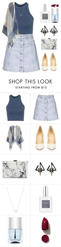 """""""Mint Water. """" by orpitaazmiri on Polyvore featuring Topshop, Dorothy Perkins, Christian Louboutin, Balenciaga, Tiffany & Co., Nails Inc., NARS Cosmetics, women's clothing, women's fashion and women"""