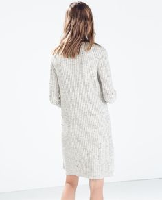 RIBBED DRESS from Zara