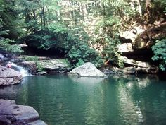 As the weather heats up, swimming holes in Kentucky become heaven on earth. Here are 11 more sweet swimming spots to visit in the Bluegrass. Camping Places, Vacation Places, Vacation Spots, Vacations, Swimming World, Swimming Holes, Backyard Camping, Go Camping, Red River Gorge Kentucky