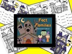 Fact Families... Halloween Booklets  Fact Family - Booklet style Cover, guided practice pages, independent practice pages Halloween Themed Available in Color & B/W http://www.teacherspayteacheres.com/Store/1stgradefireworks