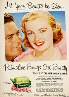 Sabonete Palmolive nos Anos 50 - Nostalgiarama