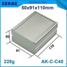 1 piece Diy electronic aluminum box enclosure project box case silver color and aluminum enclosure