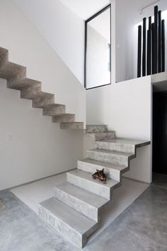 Warm Architects adds cast concrete staircase to Garcia's House in Canc�n