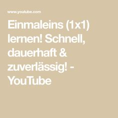 Einmaleins (1x1) lernen! Schnell, dauerhaft & zuverlässig! - YouTube Math Equations, Youtube, Multiplication Tables, School, Studying, Youtubers, Youtube Movies
