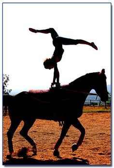 Handstand on a vaulting horse