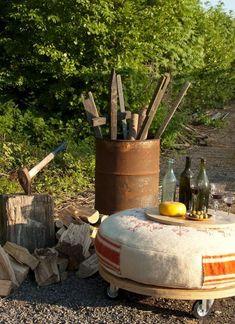 #recyclage #pneu #table #basse