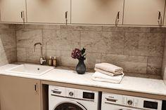 Laundry room in marble Bathroom Inspo, Bathroom Ideas, Carrara, Double Vanity, Laundry Room, House, Inspiration, Design, Home Decor