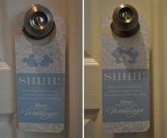 Custom Door HangersEver After Blog | Disney Fairy Tale Weddings and Honeymoon