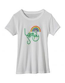 Patagonia- Live Simply Rainbow T-Shirt - Short-Sleeve - Girls'