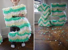diy number piñata!