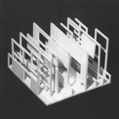 House VI, Peter Eisenman Architecture Design, Concept Models Architecture, Conceptual Architecture, Architecture Graphics, School Architecture, Peter Eisenman, Deconstructivism, Warehouse Design, Mix Use Building