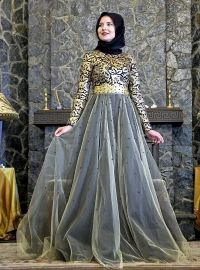 Taffeta Evening Dress - Powder - Muslim Evening Dresses - Modanisa