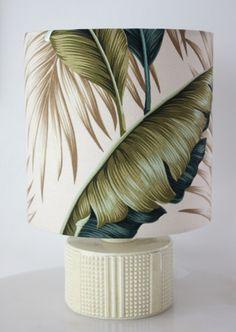 poole pottery lemon retro lamp/SOLD