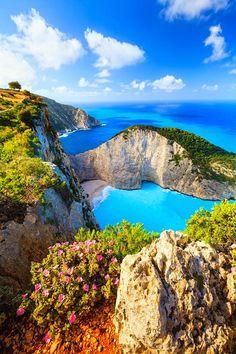 Navagio Beach (Shipwreck Cove) - Zakynthos, Ionian Islands, Greece.