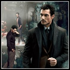 Dapper Gentleman David Gandy photo manipulation by Lucia Heres.