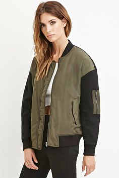 FOREVER 21+ Contemporary 1993 Graphic Bomber Jacket