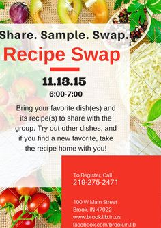 Our very first Recipe Swap!