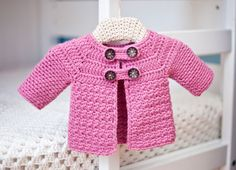 Buttoned Baby Jacket from Inside Crochet September issue (#45) ...