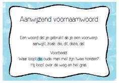 Lessen van Lisa - Taal Learn Dutch, Creative Teaching, My Job, Kids Education, Learning Activities, Grammar, Growing Up, Back To School, Homeschool