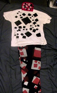 Red, white and black all squared out with the white shirt and the red beanie