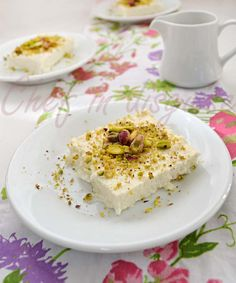 Madlouaha, Layali lobnan or Lebanese nights is basically a cold semolina pudding with an orange blossom syrup and pistachio fruit topping