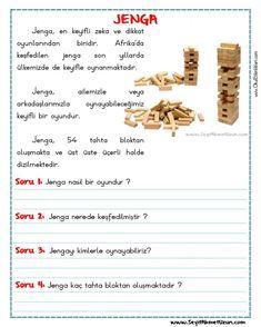 OKUMA ANLAMA METNİ – JENGA - Seyit Ahmet Uzun – Eğitime Yeni Bir Bakış