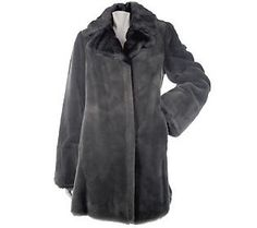 Dennis Basso 3/4 Length Coat w/Faux Mink Collar and Cuffs