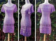 Royal Lilac Beach Dress / Cover Up / Fashion Copy / by DearAlina