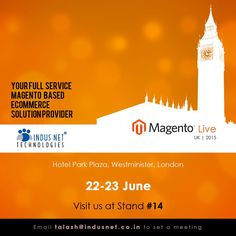 Discuss your #ecommerce requirements at #Magento Live London, United Kingdom. Meet #IndusNetTechnologies at stand #14 between 22nd and 23rd June, 2015….