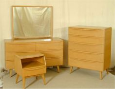 5 PC HEYWOOD WAKEFIELD TWIN BEDROOM SUITE