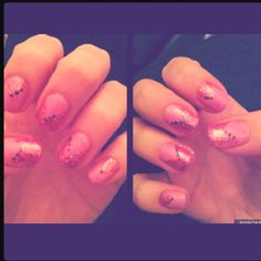 like the design on the nails minus the glitter dots.